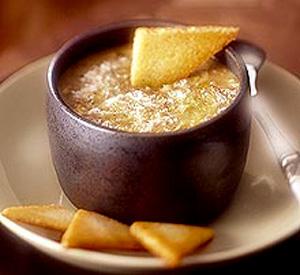 Zuppa di pollo lenticchie e porri